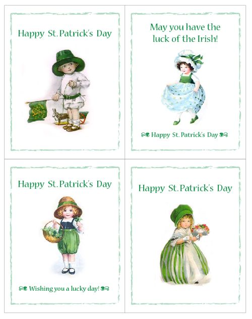 Free Printable St. Patrick's Day Cards.