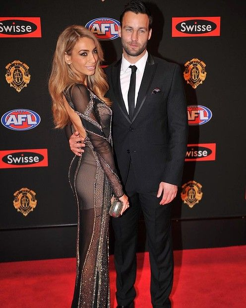 Jimmy Bartel and Nadia Coppolino. Brownlow 2013