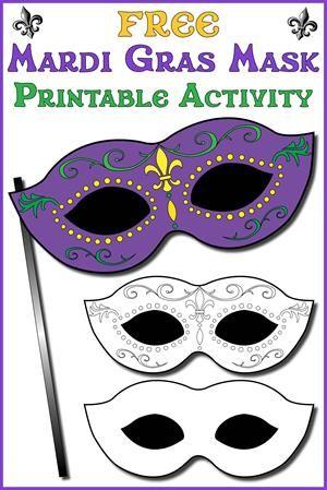 Free Printable Mardi Gras Mask Template