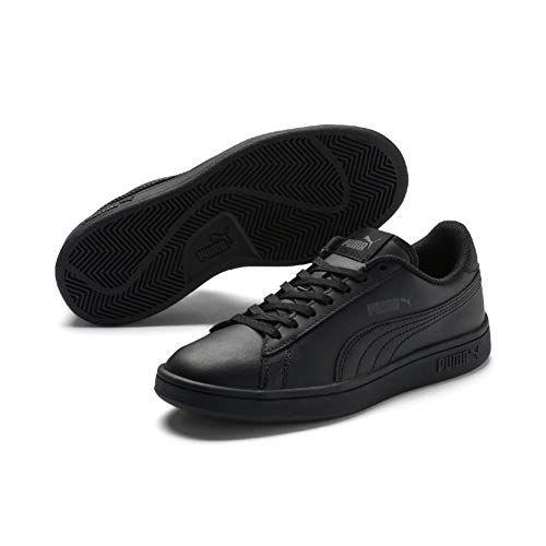 Puma Smash v2 L Jr Sneakers Basses Mixte Enfant Noir Black 36 EU ...