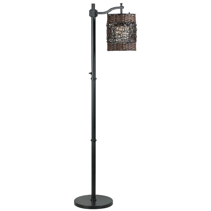 Design Craft Omari Oil Rubbed Bronze Indoor/ Outdoor Floor Lamp (Omari Outdoor Floor Lamp), Brown (Metal)