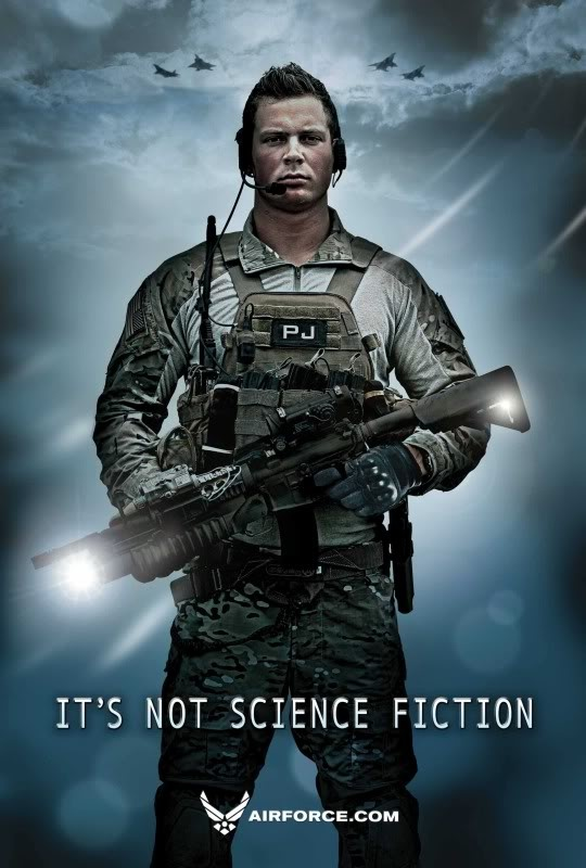 United States Air Force, Pararescue (PJ) Real Heroes don't wear a Cape..