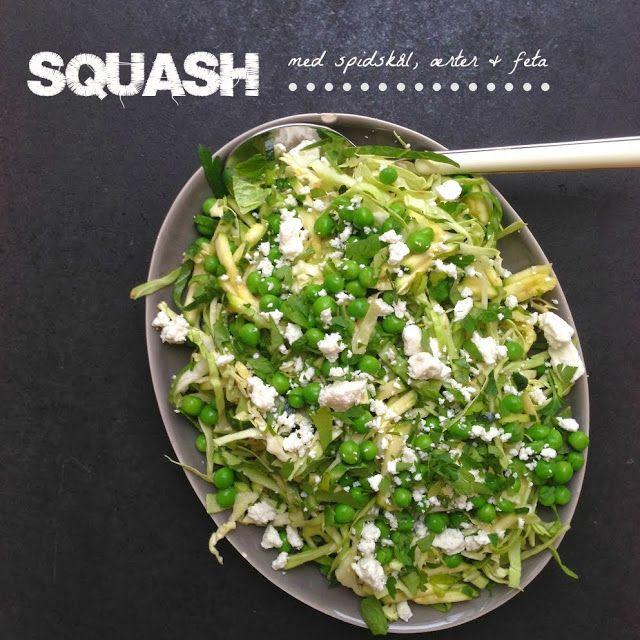 Squashsalat med spidskål, feta & ærter - Vanløse blues...