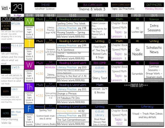 1000 Ideas About Printable Teacher Planner On Pinterest
