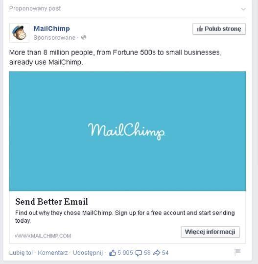 MailChimp FB Ad