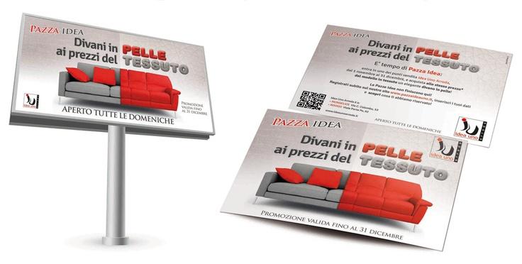 Comunicazione grande formato e door to door Idea Uno Arreda.