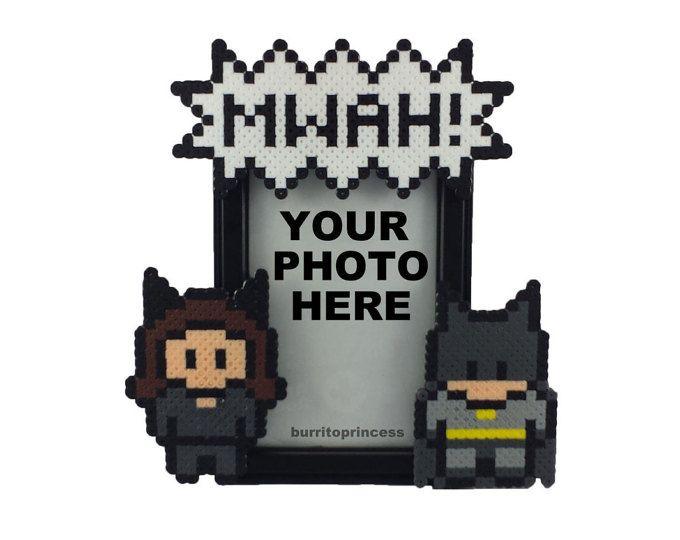 Catwoman y Batman imagen marco - parejas foto marco - Batman boda - regalo de aniversario - regalo del día de San Valentín nerd - el Original