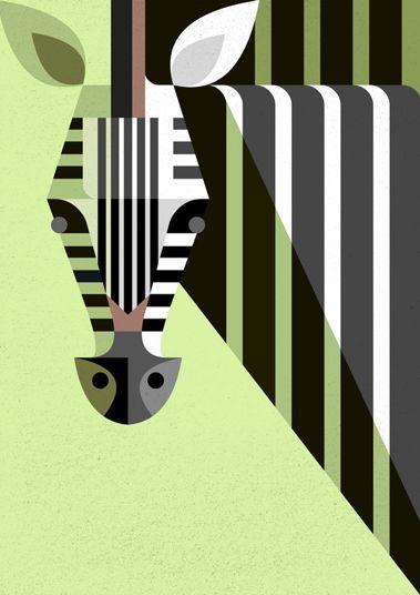 Josh Brill Illustration 'Zebra' Auf 25.media.tumblr.com http://www.pinterest.com/globopato/illustration-animals/