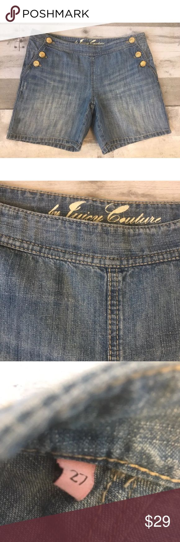 Juicy Couture Denim Light Wash Jean Shorts Juicy Couture Denim Light Wash Jean Shorts Nautical Women's Size 27   Waist. 16 inch  Inseam 5.5 inch Juicy Couture Shorts Jean Shorts