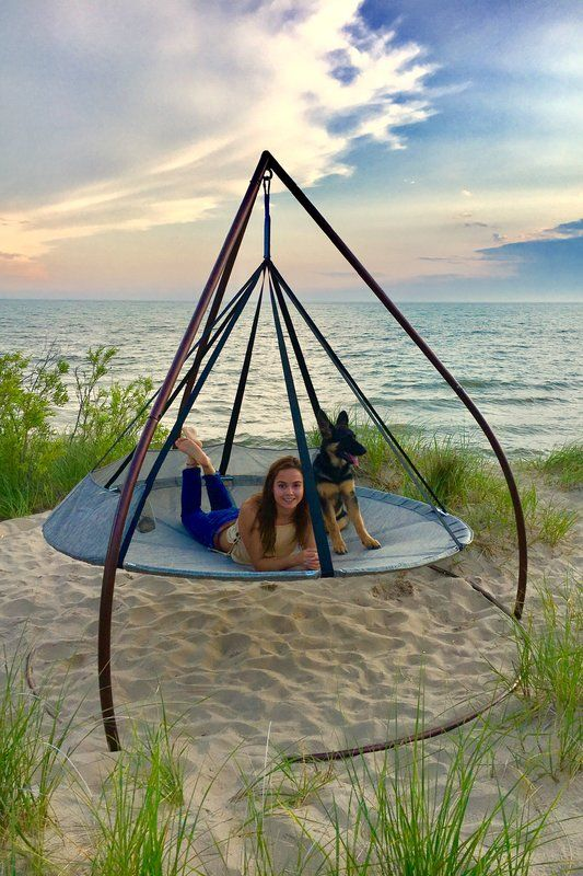 Flying Saucer Chair Hammock with Stand Hammock chair