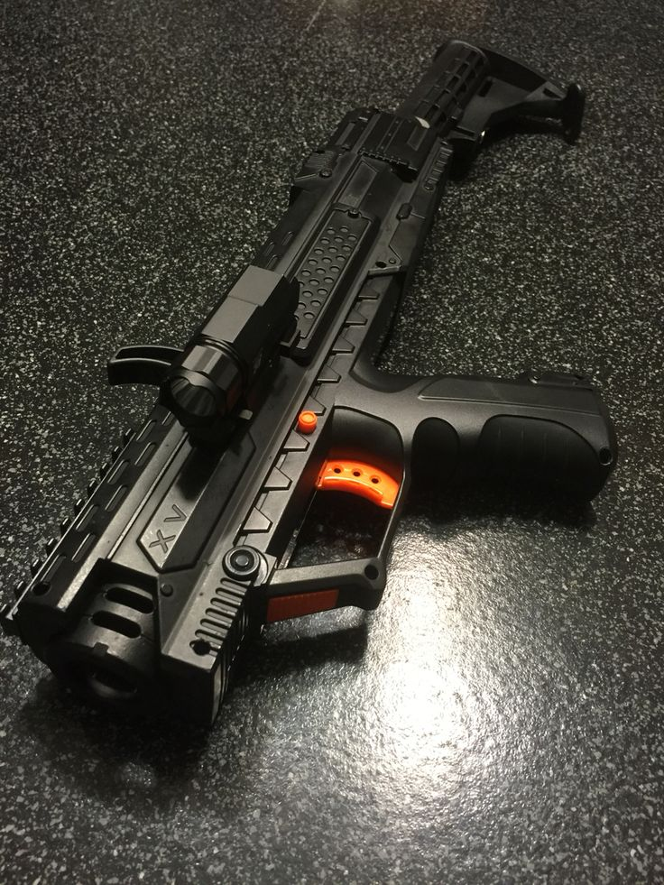 Nerf Rival Modified - Side Picatinny Rail added with Tactical light. AR  Rear Stock added