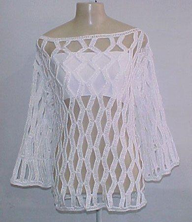Crochet tunic mesh | graph pattern