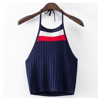 Can't get enough of the this tommy Hilfiger knitted halter neck crop top - so Gigi Hadid!