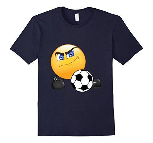 Soccer Playing Smile Emoji T-Shirt Navy Iwistyle