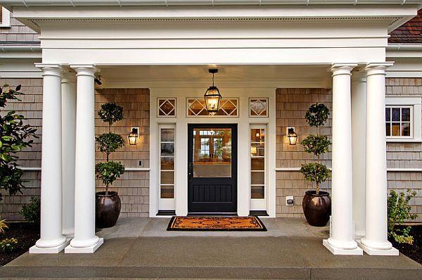 дизайн входных дверей фото