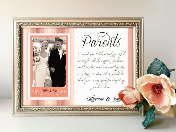 Gifts For Parents Wedding Thank You: Best 25+ Parent Wedding Gifts Ideas On Pinterest