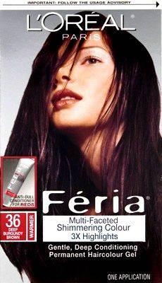 Oreal Feria Hair Color 36 Chocolate Cherry – Deep Burgundy Brown