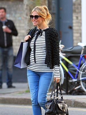 The lovely Sienna Miller and her bump! #fashion #pregnancy