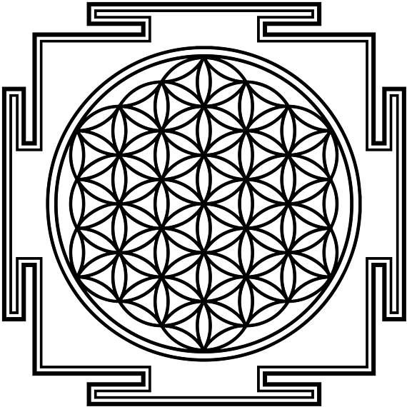Flower of Life Yantra - Wall Decal - Wall Sticker