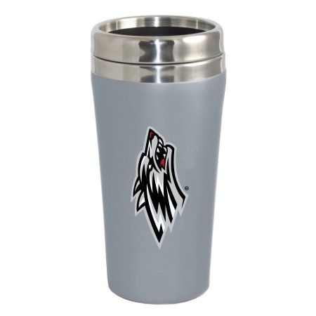 University of New Mexico Lobos Double Walled Travel Tumbler, Silver