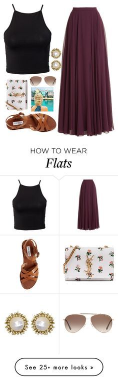 """""""Comment!!"""" by emmaintn on Polyvore featuring Halston Heritage, NLY Trend, Steve Madden, Yves Saint Laurent, Tom Ford and Kendra Scott"""