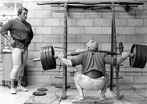 Old skool weightlifting