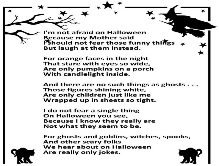 halloween poems for kids - Funny Halloween Poems For Kids