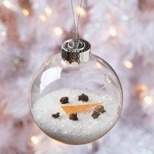Creative Clear Glass Ornament Crafts