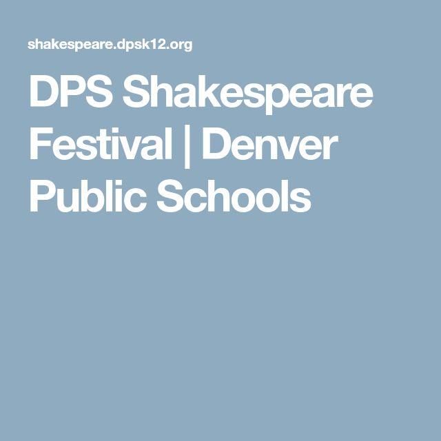 DPS Shakespeare Festival | Denver Public Schools