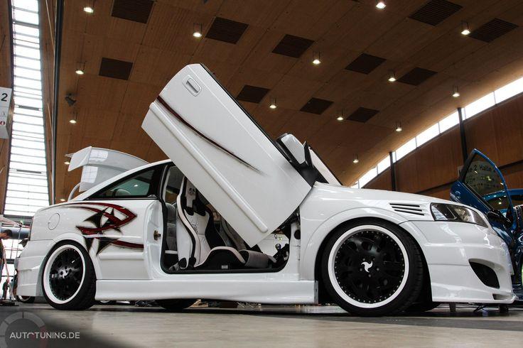 Opel Astra Coupé: Der weiße Ritter  http://www.autotuning.de/opel-astra-coupe-der-weisse-ritter/ Astra G, Coupé, Opel Astra, Opel Tuning News, White Knight