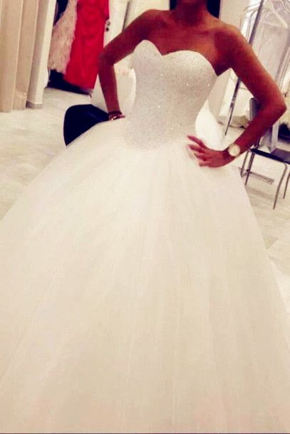 New Arrival Beading Wedding Dresses, A-Line Floor-Length Wedding Dresses, Wedding Dresses, White Wedding Dress,Dresses For Wedding