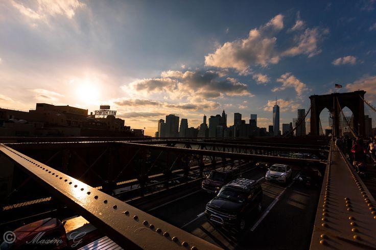 #Newyork #brooklyn bridge #breukelen #brug #US #sunset #Manhattan