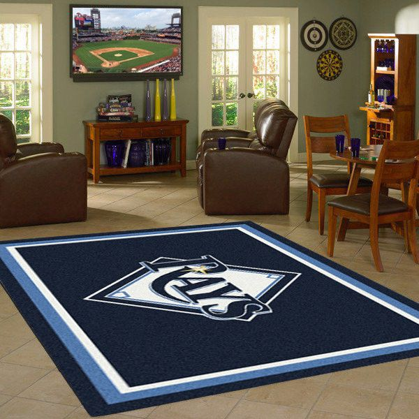 Tampa Bay Rays MLB Team Logo Spirit Rug