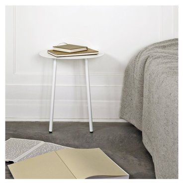"Wall Table ""Yeh"" Minimalistischer Beistelltisch in Pure White designed by Kenyon Yeh"