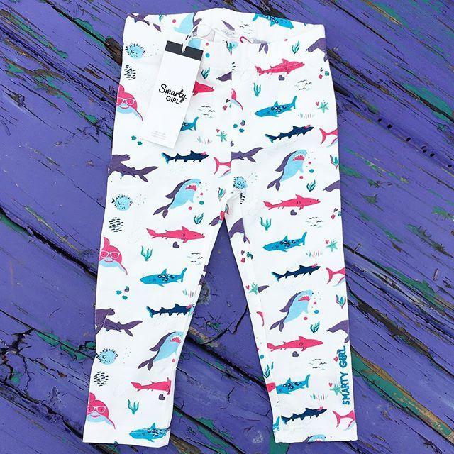 Shark leggings for toddler girls!