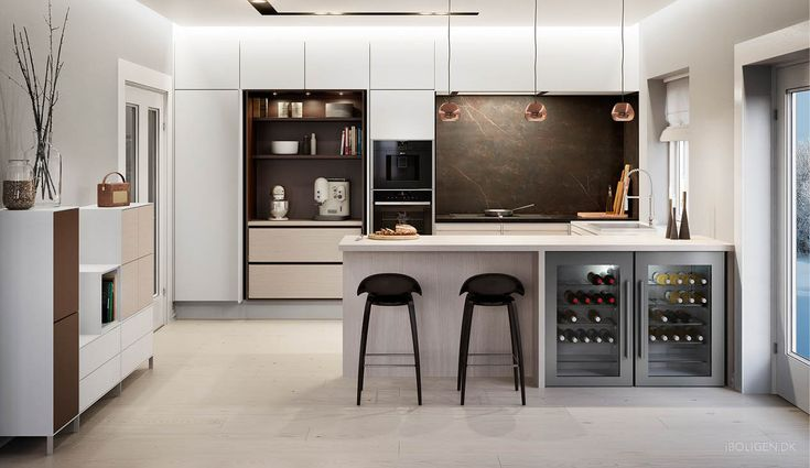 Kitchen trend 2016: Nordic woods and a secret wall.
