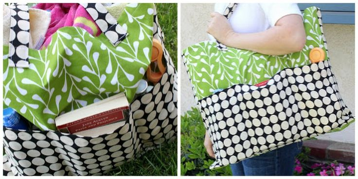how to make a pottery barn inspired tote