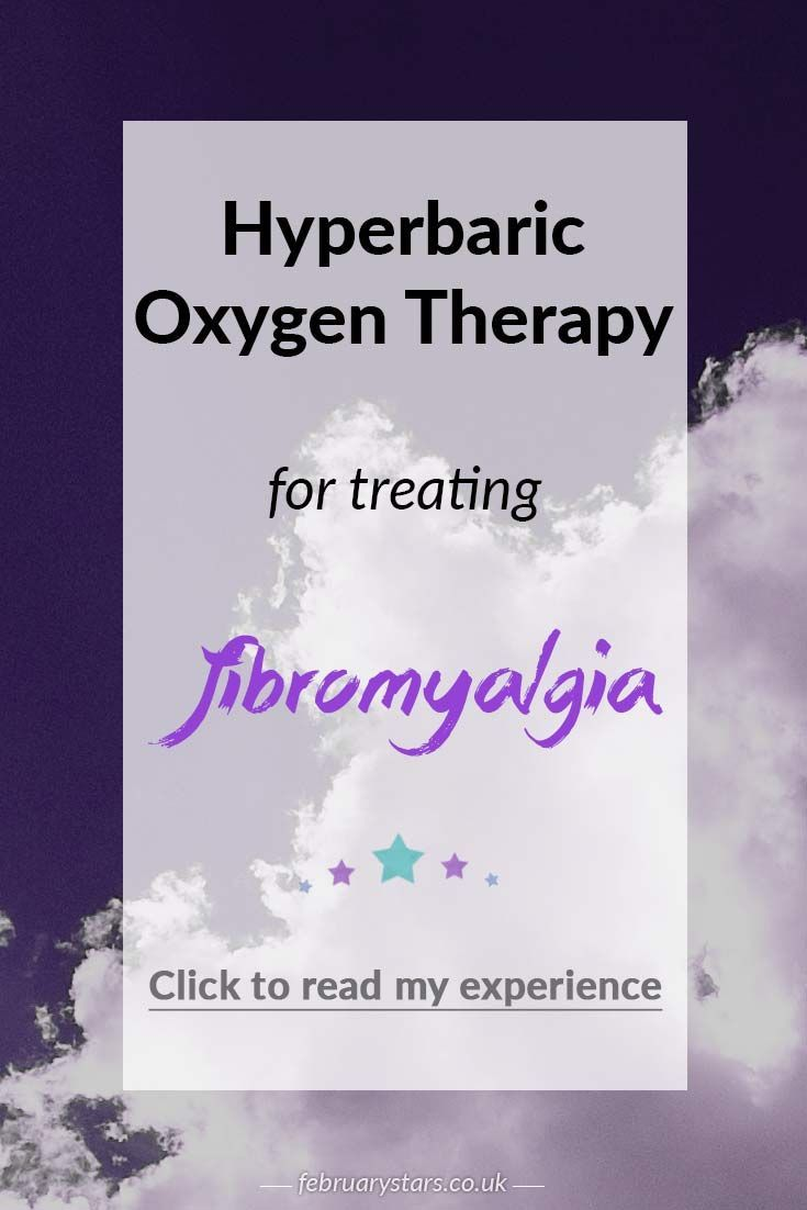 Hyperbaric Oxygen Therapy for treating fibromyalgia. And update on how I found this treatment.