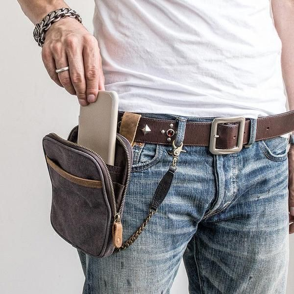 Pouch Casual Wallet Satchel Fanny Pack Waist Packs Hip Purse Canvas Belt Bags