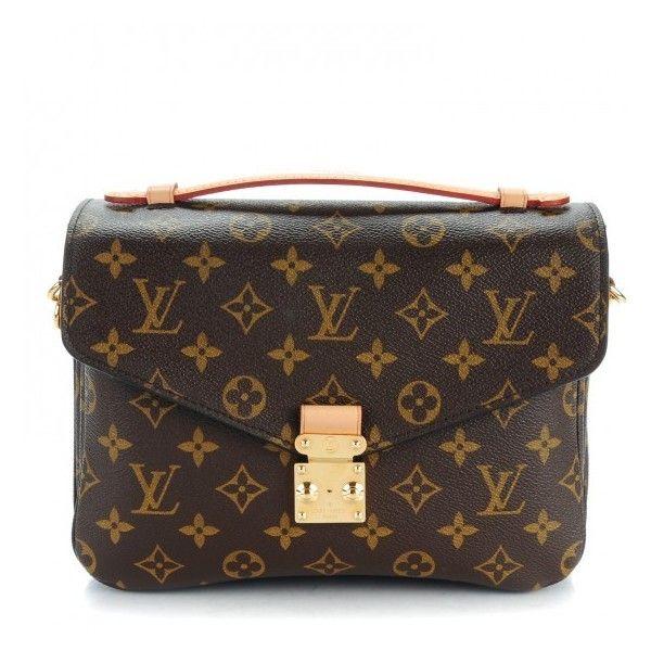 LOUIS VUITTON Monogram Pochette Metis ❤ liked on Polyvore featuring bags, flap lock bags, messenger bags, locking courier bag, locking messenger bag and flap messenger bag