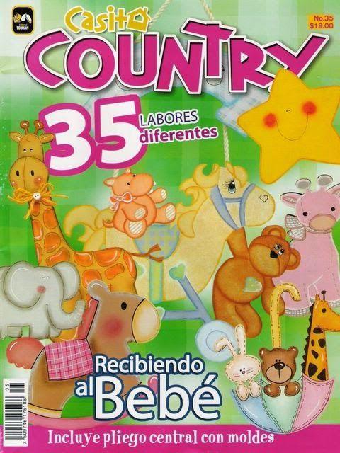 Revistas de manualidades gratis: manualidades country para bebe