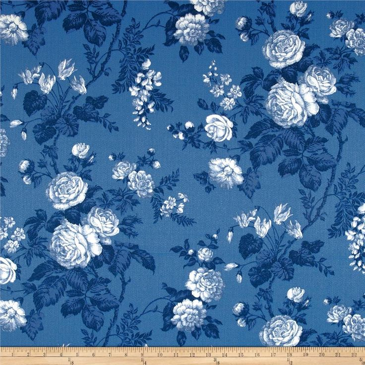 Robert Allen Promo Seaport Floral Harbor Blue from @fabricdotcom  Refresh and modernize an old piece of furniture and update it with a new look. This medium weight acrylic fabric is appropriate for accent pillows, upholstering furniture, headboards and ottomans. Colors include white and shades of blue.