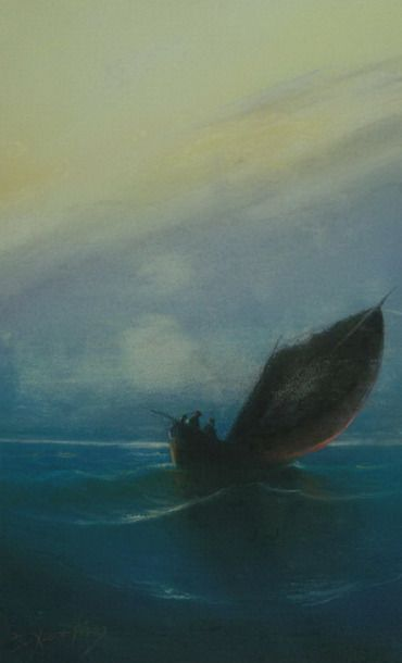Βασίλειος Χατζής (1870-1915), Βάρκα. Ιδιωτική Συλλογή.