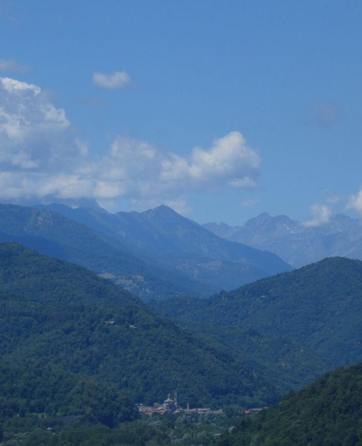 Blick ins Valle Varaita mit Venasca Juli 2017