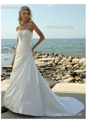 Gorgeous flowery gorgeous Strapless Wedding Dresses 2016