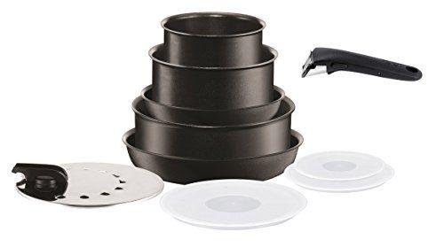 Tefal L6549603 Set de poêles et casseroles – Ingenio 5 Performance Noir 10 Pièces – Tous feux dont induction: Composition du Set:…