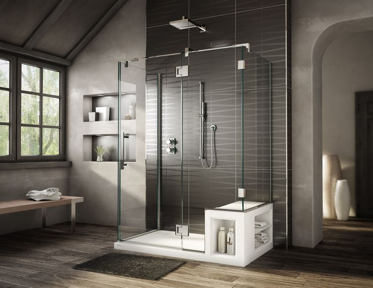 bathtub shower combo | The latest of its shower bases are the ALESSA and URBANA which ...