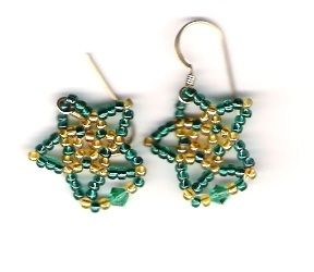 Tiny Twinkler Earrings Pattern at Sova-Enterprises.com Lots of free beading patterns and tutorials are available!