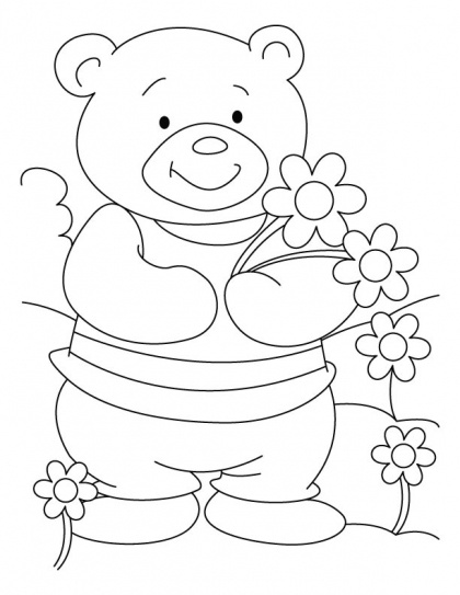 bear cheer coloring pages download free bear cheer coloring pages for kids best coloring - Fill The Colour In Pictures