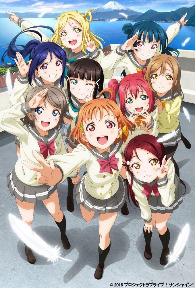 """Tráiler del Anime Love Live! Sunshine!! revela su estreno """"mundial simultáneo"""" en Julio."""